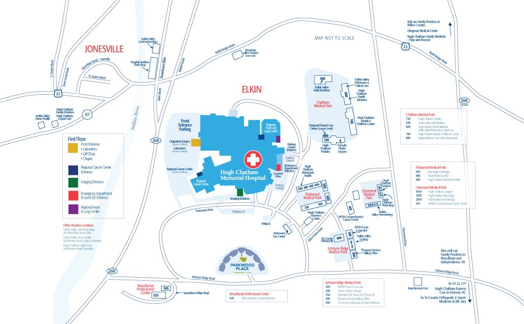 Hugh Chatham Campus Map